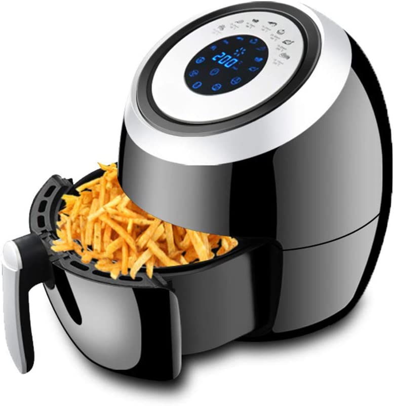 ZHA Upgraded Air Fryer XL, 5.2QT Oilless Air Fryer Oven, 7 Cooking Presets Electric Hot Air Cooker with Heat Preservation Function, Digital Touchscreen, Detachable Basket Dishwasher Safe