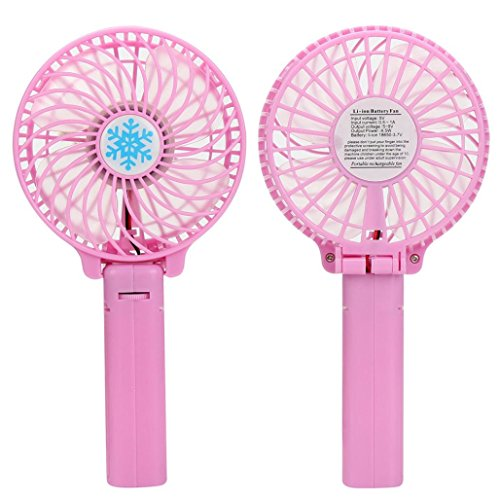 Gillberry Portable Handheld Mini Air Conditioner Cooler Fan Battery Sport Mini Fan (Pink)