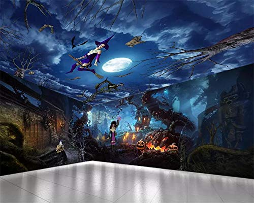 Custom Wallpaper Halloween Fright Night Full House Background Wall Painting Party Decoration Background 3D Wallpaper -
