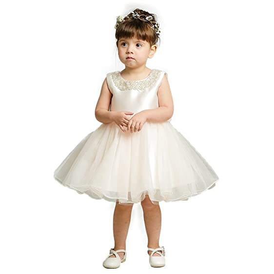 Amazon.com: menoqo Baby Girl Dress Christening Baptism Gowns Flower ...