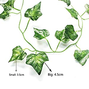 AGEOMET 24 PCS Fake Ivys Artificial Ivys Greenery Garlands Hanging for Wedding Party Garden Wall Decoration(79 inch Each) 2