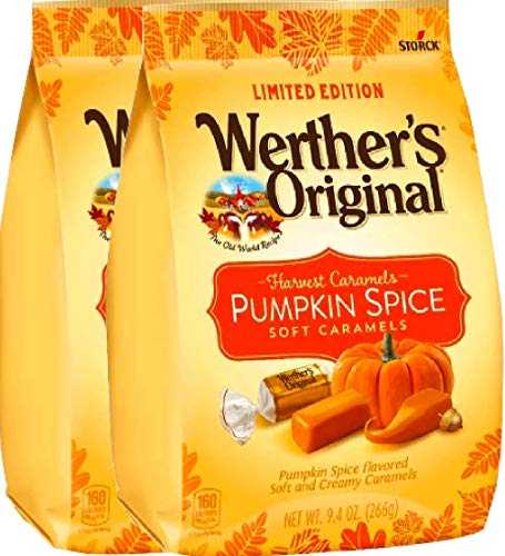 NEW Werther's Original Limited Edition Halloween Pumpkin Spice/Caramel Apple Soft Caramels - 9.4oz (Pumpkin Spice, 2) for $<!--$15.90-->