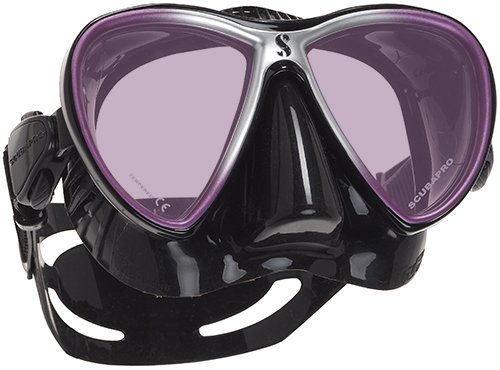 Mask Mirrored Lens (ScubaPro Synergy Trufit Mirrored Twin Lens Mask (Purple / Black))