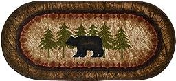 Wholesale Rug Source Cozy Cabin Birch Bear Nonskid (Non Slip) Cute Lodge Kitchen Mat Rug, 20\