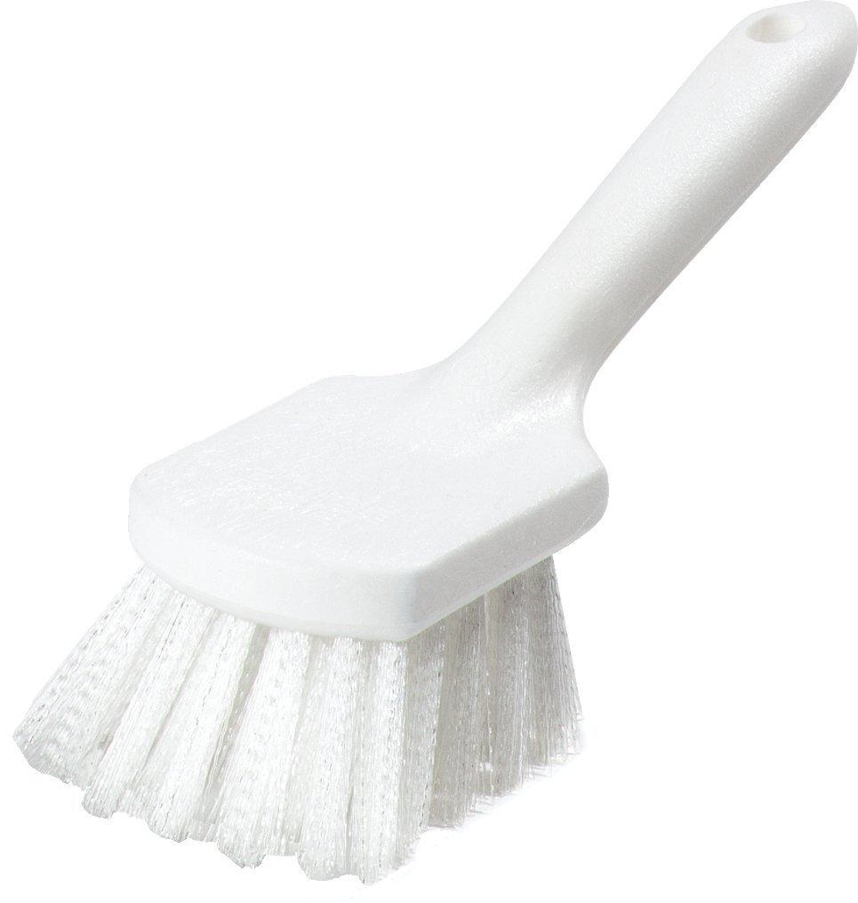 Carlisle 4054500 Ergonomic Utility Scrub Brush with Bent Handle, 8'' Length  (Pack of 12)