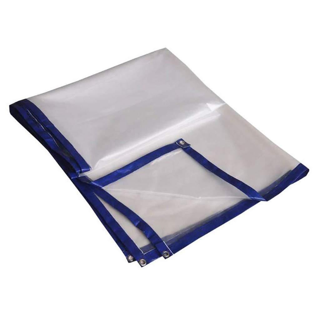 3x3m AJZXHE Plan Transparente BÂche épaisse imperméable, Film Plastique Transparent Blanc, bÂche isolée par Effet de Serre Tissu imperméable épaissi (Taille   5x5m)