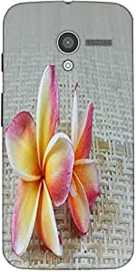 Snoogg Butterfly On Flowers Designer Protective Back Case Cover For Moto-X