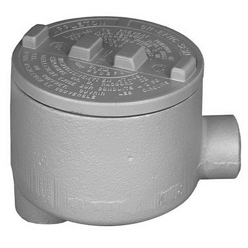 Hazardous Location Style LB Appleton GRLB75 Conduit Outlet Box Iron 3//4 Hub 3//4 Hub APPGRLB75 Furnished with Internal Ground Screw and O-Ring
