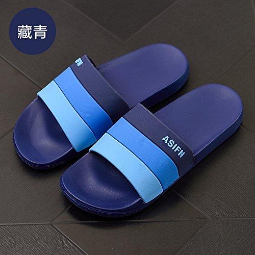 44 blu indoor spiaggia fankou marea pantofole sono uomini scuro estate cool uomini bagno e outdoor estate pantofole antiscivolo wXZXaqrv