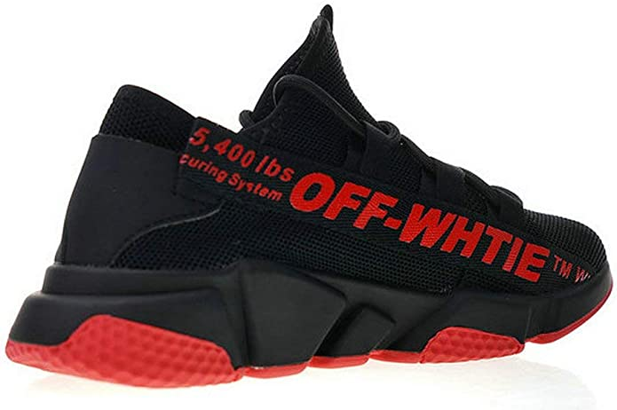 Off White Balenciaga Speed Stretch Knit Sock Trainer Red