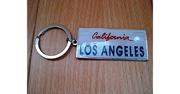 Amazon.com: Llavero California Los Angeles placa de licencia ...