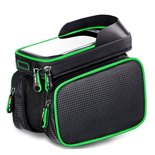 Bicycle Bag Bike Front Shelf Large Storage Bag Waterproof 6.2 inch Touch Screen Mobile Phone Bag,Outdoor Cycling Bicycle Accessories
