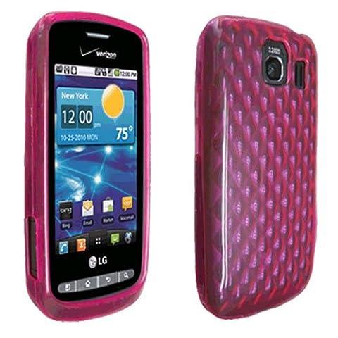 Verizon High Gloss Pink Silicone Cover Case for LG Vortex - LGVS660SILHGPNK (Verizon Vortex Phone Case)