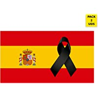 Oedim Pack 2 Banderas de España con Crespón