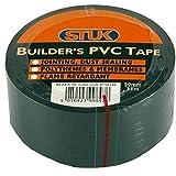STUK BT5033B 50 mm x 33 m PVC DPM Builder's Tape - Black