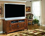 "Signature Design by Ashley W319-38 Cross Island Collection TV Stand, 60"", Medium Brown"