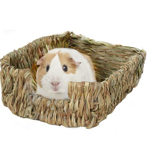 SunGrow Guinea Pig Grass Bed, Portable, Hand-Made Comforter, Provides Paws Protection and Relaxation, Lightweight, Durable, Comfortable