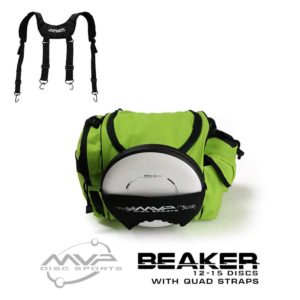 MVP Disc Sports MVP Beaker Competition Disc Golf Bag + Quad Straps - Lime by MVP Disc Sports