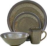 Sango 16 Piece Omega Dinnerware Set, Olive
