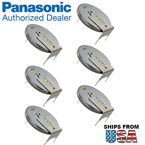 6x Panasonic CR-2032/GUN 3V Lithium Coin Battery Horz 3 Pins Tab For PC CMOS Compaq Presario V6000 IBM ThinkPad A20m Gateway Solo 5300 HP Pavilion dv6000 Series dv6300 Series dv6100 (Cmos Series Battery)