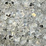 Fireplace Glass Fire Pit Glass- Starfire Reflective 1/2 Inch - 25 Lbs