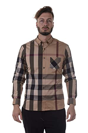 BURBERRY Chemise à Manches Longues Homme thornaby Beige EU XXL (UK 44)  4045831 432902f056b