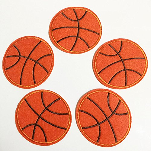 Set of 10 pcs Basketball Sports Iron On Sew On Cloth Embroidered Patches Appliques Machine Embroidery Needlecraft Sewing Projects DIY