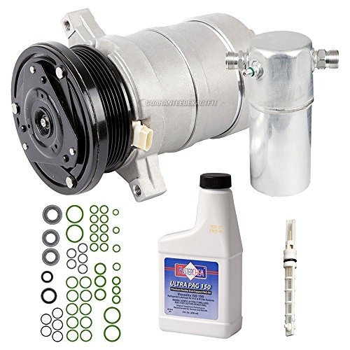 Fleetwood Cadillac A/c (AC Compressor w/A/C Repair Kit For Cadillac DeVille & Fleetwood 1989 1990 - BuyAutoParts 60-81881RK New)