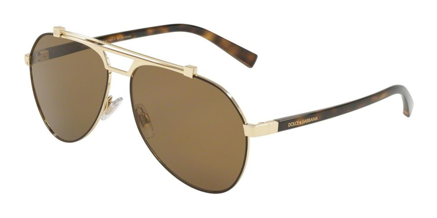 Dolce & Gabbana Women's 0DG2189 Matte Brown/Pale Gold/Polarized Brown One Size by Dolce & Gabbana