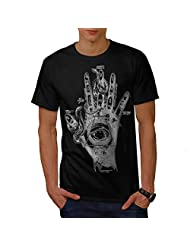 Illuminati Compass Snake Hand Men NEW Black S-5XL T-shirt | Wellcoda