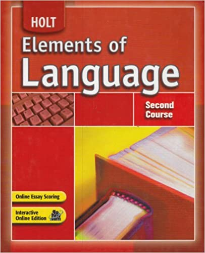 Elements Of Language Student Edition Second