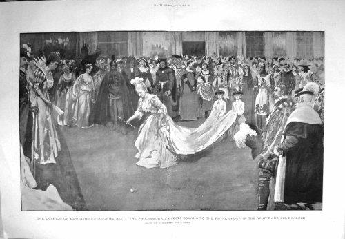 Duchess Of Devonshire Costume (Print 1897 Duchess Devonshire Costume Ball White GSaloon 079TM156)