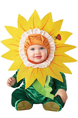 InCharacter Costumes Baby's Silly Sunflower Costume, Green/Yellow, Medium (12-18 Months)