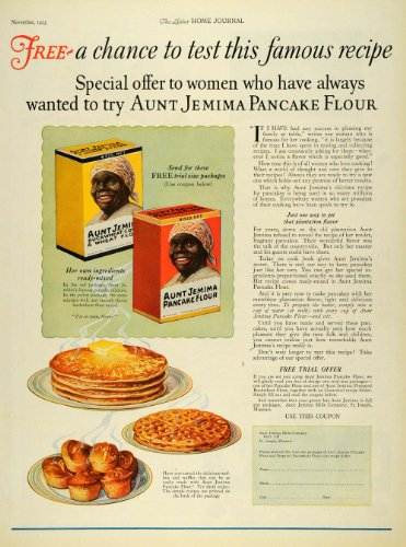 1925-ad-aunt-jemima-mills-pancake-baking-flour-waffles-muffins-breakfast-mix-box-original-print-ad