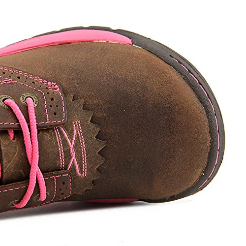Twisted All WAL0007 Pink Oiled Saddle X Around Western Lacer Boots Womens Saddle Oiled T46TqrxwWS