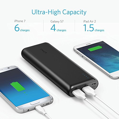 Upgraded Anker PowerCore pace 20000 Qualcomm brief impose 30 portable Charger Backwards appropriate having brief impose 1 2 having PowerIQ 20000mAh electrica Bank for Samsung iPhone iPad and extra Batteries