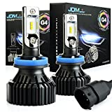 JDM ASTAR Newest Version G4 8000 Lumens Extremely Bright AEC Chips H11 H8 H9 All-in-One LED Headlight Bulbs Conversion Kit, Xenon White (H11/H8)