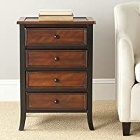 Safavieh American Homes Collection Haxby Dark Brown 4-Drawer End Table