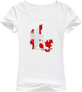 تي شيرت علم الدنمارك -نساء