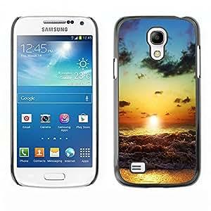 EJOY---Cubierta de la caja de protección la piel dura para el ** Samsung Galaxy S4 Mini i9190 ** --Beach Sunset Waves
