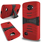 LG Lancet Case, Full Body Kickstand Hybrid [CoverON® Titan Armor Series] Rugged Drop Protection Pattern Design [Tough Shockproof Impact Shield] Phone Cover Case for LG Lancet VW820 - Red