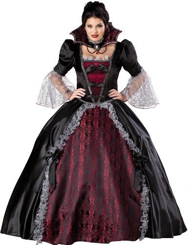 [InCharacter Costumes Women's Plus Size Vampiress Of Versailles Costume, Black/Burgundy, XXX-Large] (Lady Reaper Adult Plus Size Costumes)