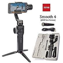 Zhiyun Smooth 4 3 Axis Gimbal Steadicam Stabilizer For Samsung,Huawei,IPhone X 8 Gopro Hero 5 SJCAM SJ7 Xiaomi Yi 4k Action Camera(The Latest Version) (Black)