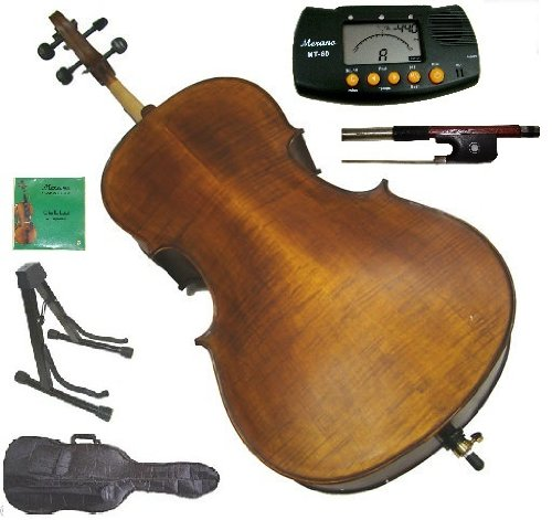 merano-mc600-4-4-size-hand-made-solid-wood-ebony-high-flamed-cello-with-bag-and-bow-2-sets-of-string