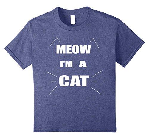 Diy Blues Brothers Costume (Kids Meow I'm A Cat Halloween Costume T Shirt 8 Heather Blue)