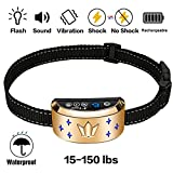 A+ Trainer Bark Collar, [2018 Upgrade Version] Dog No Bark Collars Upgrade 7 Sensitivity, USB Rechargeable Waterproof Dog Shock Collar with Vibration and No Harm Shock for Small Medium Large Dogs