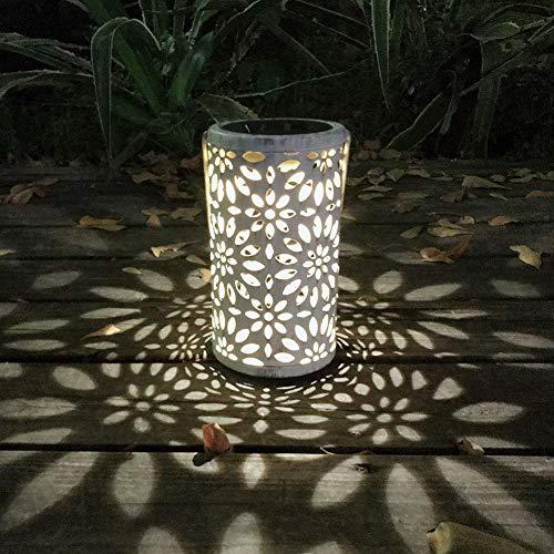 - Vktech Hanging Solar Lantern Daisy Pattern Solar Landscape Lantern Waterproof Solar Lantern with Handle for Path Garden Patio Yard Lawn
