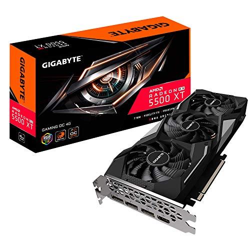 GIGABYTE Radeon RX 5500 XT Gaming OC 4G Graphics Card, PCIe 4.0, 4GB 128-Bit GDDR6, GV-R55XTGAMING OC-4GD Video Card