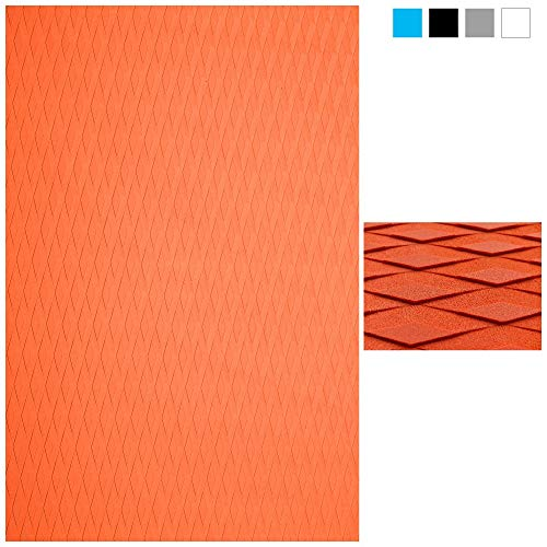 ABAHUB Non-Slip Traction Pad Deck Grip Mat 30in x 20in Trimmable EVA Sheet 3M Adhesive for Standup Paddle Board Orange ()