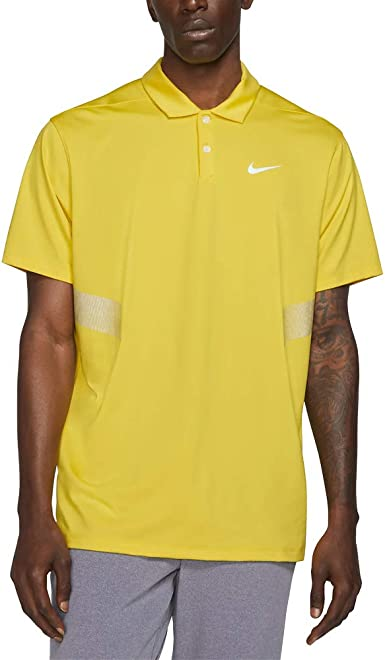 Nike Dri Fit Vapor Reflect Golf Polo 2019 Chrome Yellow/Reflective Silver X-Large